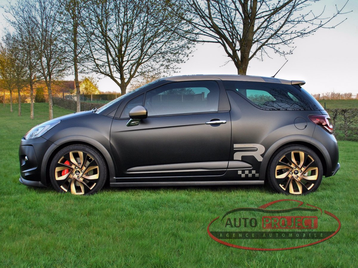 citroen ds3 1 6 thp 202 racing gold mat voiture d. Black Bedroom Furniture Sets. Home Design Ideas