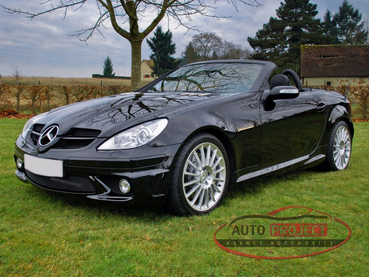 mercedes benz classe slk ii 55 amg 360 7g tronic voiture d 39 occasion disponible auto project. Black Bedroom Furniture Sets. Home Design Ideas